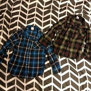 EUC Set of 2 Flannel Shirts